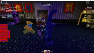 playin fnaf rp in roblox and doing stuff