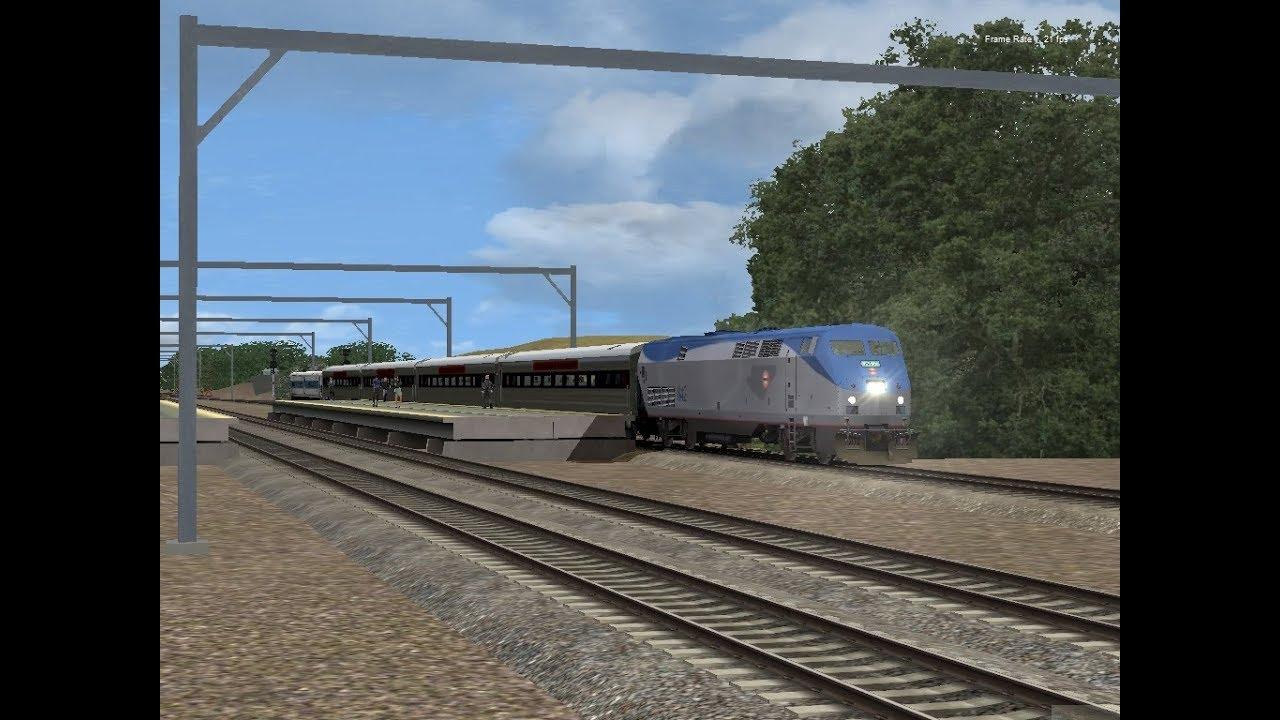 train simulator 2018 shore line east train 1634 youtube