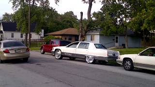 "1996 Cadillac Fleetwood swanging on 26""s doin wha it do ..........."