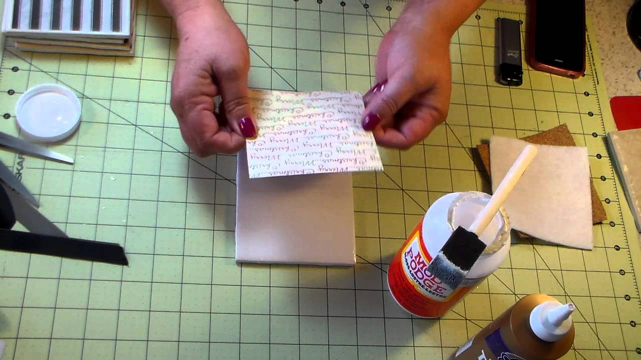 HOW TO: Make drink coasters out of tiles - YouTube