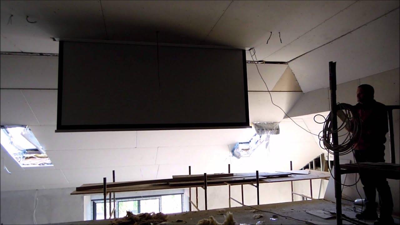 Montaz Ekranu Projekcyjnego W Suficie Podwieszanym Youtube