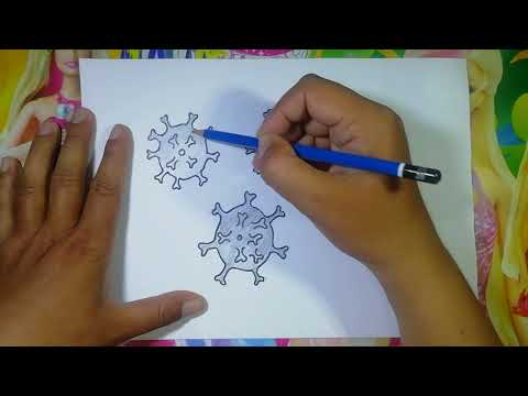Bagaimana cara menggambar virus covid 19|how to draw covid 19 ...