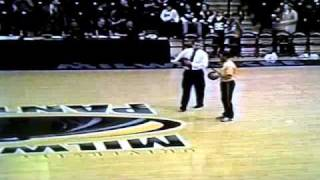 Amazing half court shot, three in a row half court basketball shots by UW-Milwaukee Student