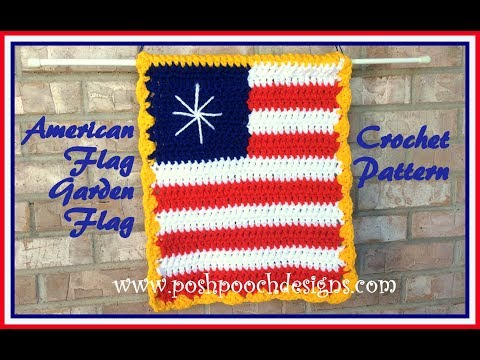 American Flag Garden Sign Crochet Pattern