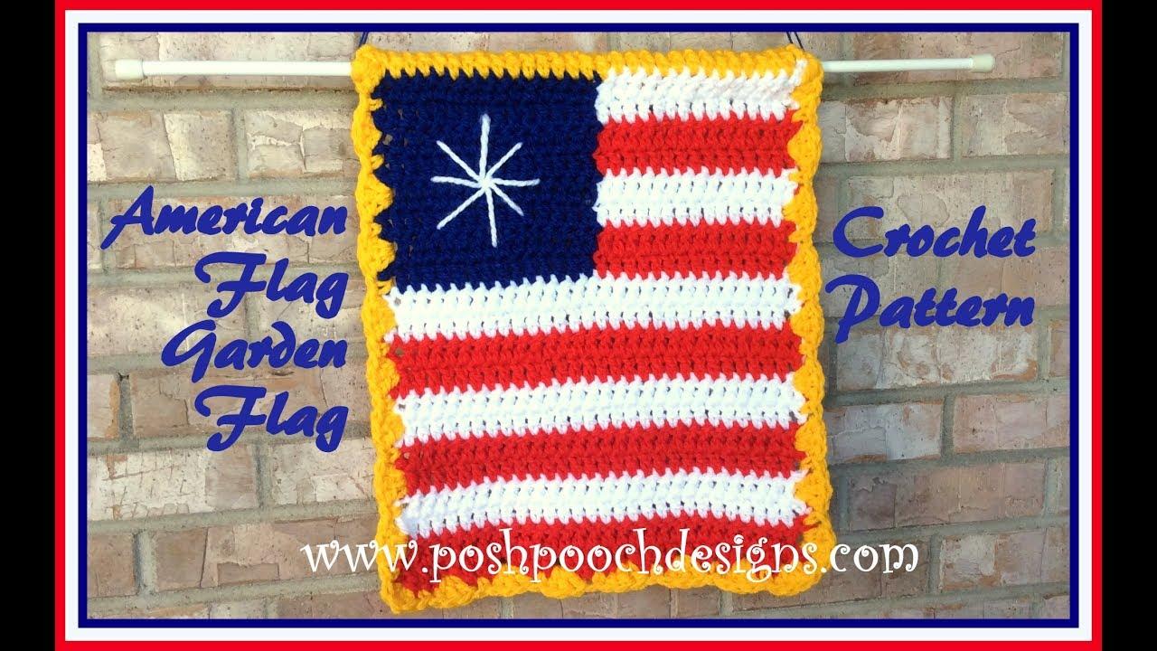 American Flag Garden Sign Crochet Pattern Youtube