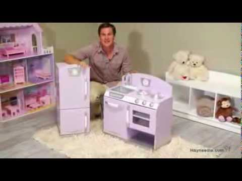 kidkraft 2 piece lavender retro kitchen and refrigerator product review video - Kidkraft Vintage Kitchen