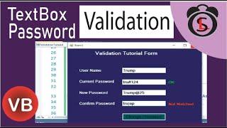 VB.Net | Password Validation In VB | TextBox Validation In VB.Net Windows Form Application