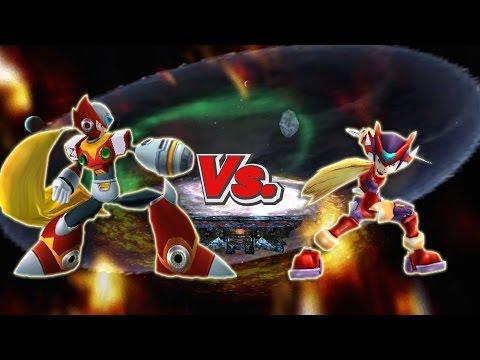 SSBB WiiU Modded Battles: Zero Vs Megaman Zero