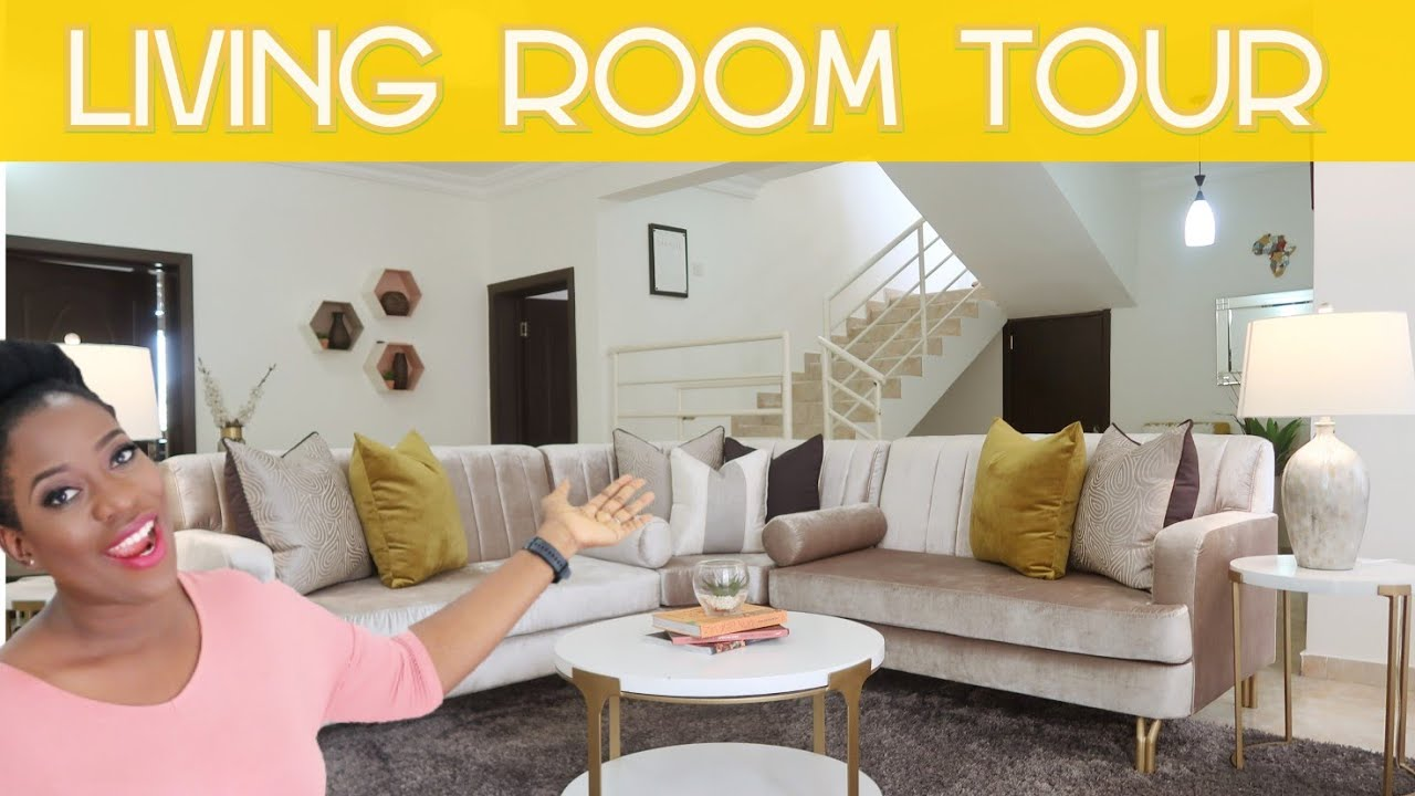 Lagos Living Room Tour Made In Nigeria Furniture Sisiyemmie Youtube