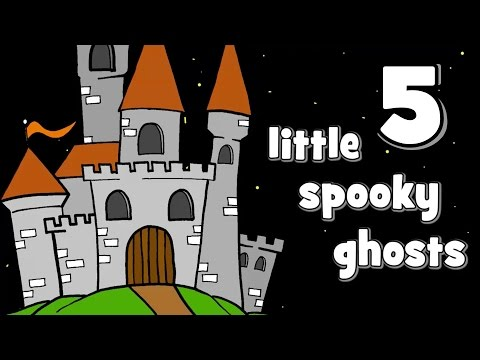 Five Little Spooky Ghosts  Halloween Songs for Kids