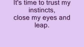 Lea Michele - Defying gravity lyrics on screen and in description