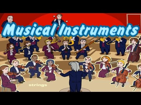 Musical Instruments of the Orchestra, Learn Sounds, Interesting & Educational s for Kids