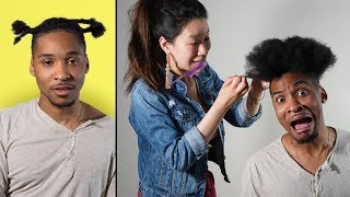 My Korean Fiancée Tries To Cornrow My Hair For First Time