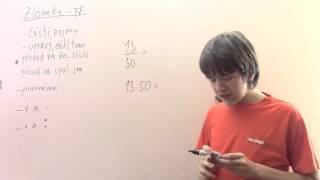 Zlomky - převod na desetinné číslo - příklady