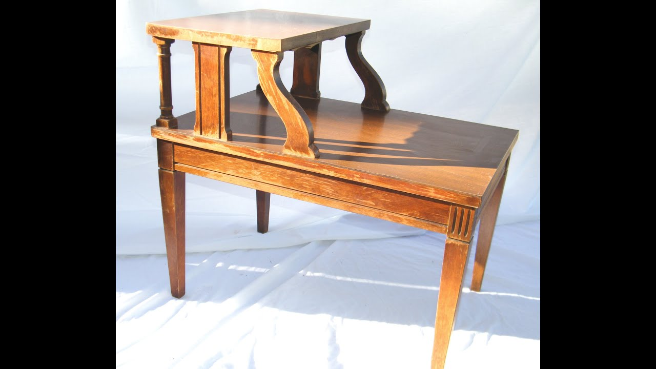 ANTIQUE 1950s MERSMAN 2 TIER MAHOGANY NIGHTSTAND 7640 YouTube