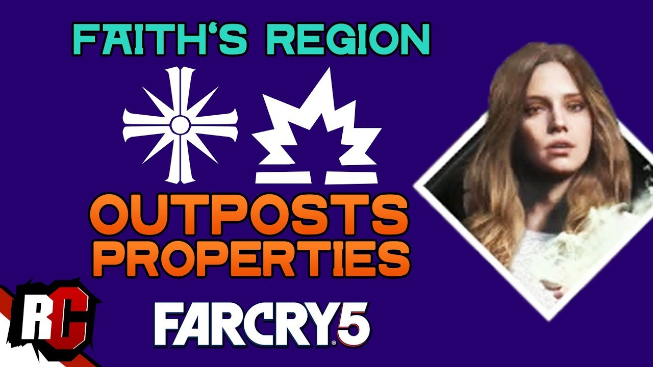 All Cult Outposts Properties In Faith S Region Far Cry 5 Map
