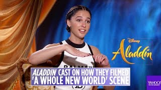 """'aladdin' Live Action Cast On How They Filmed """"a Whole New World' Scene"""