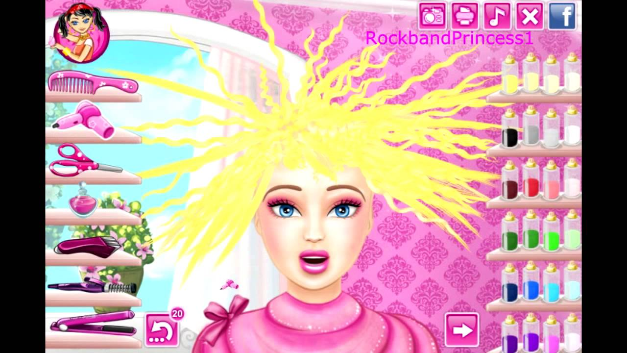 Barbie Hair Cutting Game Barbie Makeover Game - YouTube
