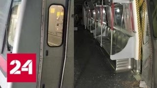 В метро Гонконга столкнулись два поезда - Россия 24