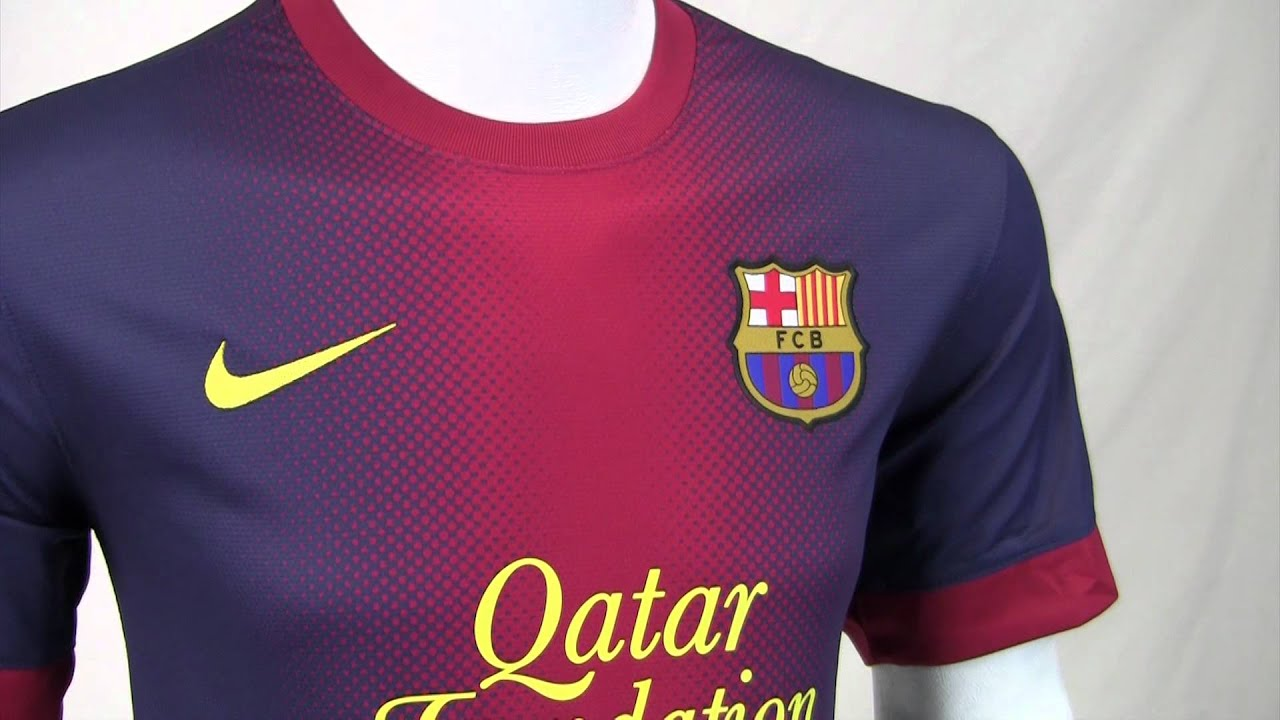 1449afdb2d3 Nike 2012-13 Barcelona Home Jersey - YouTube