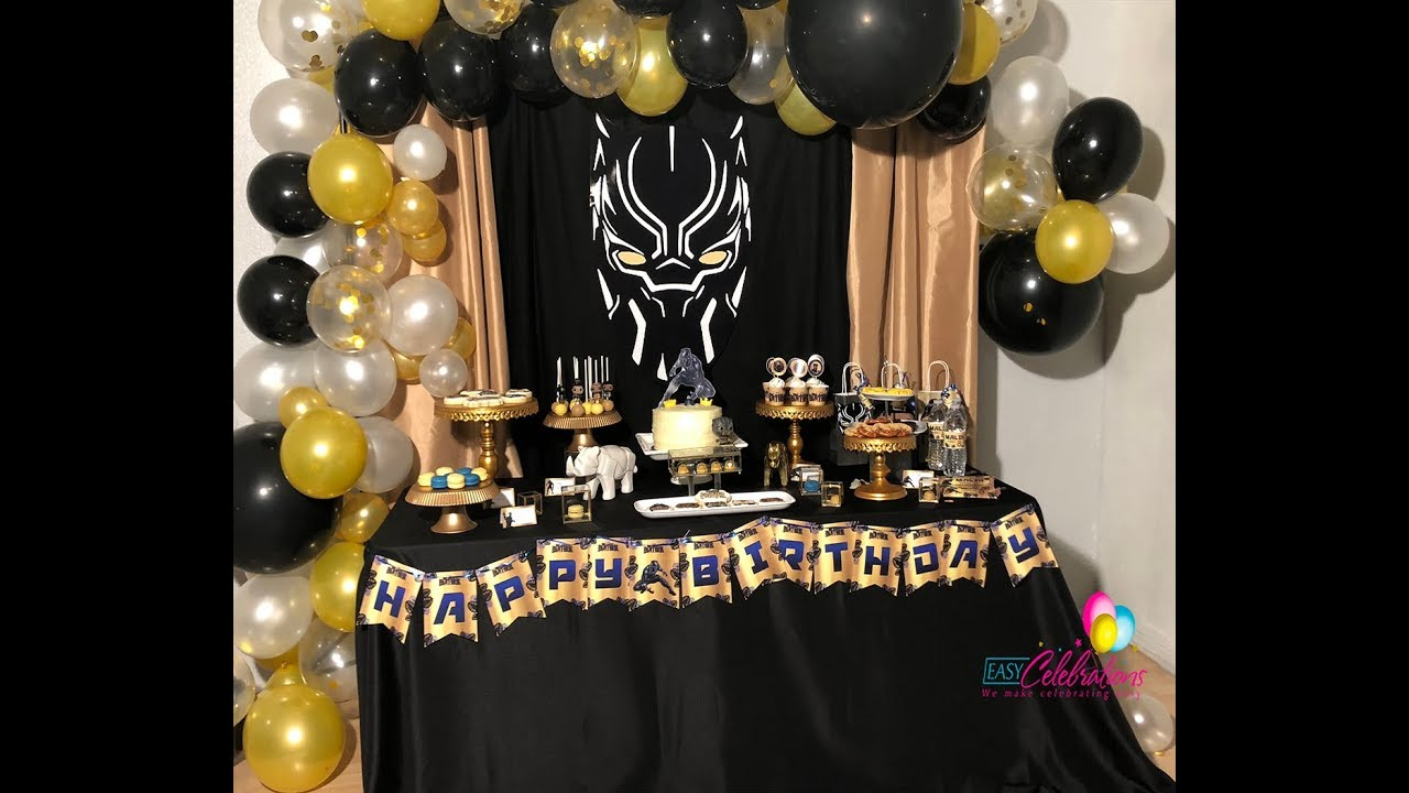 Black Panther Birthday Party Wakanda Party Black Panther Party Ideas Black Panther Cake Youtube