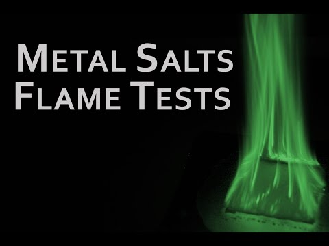 Flame Tests of Metal salts