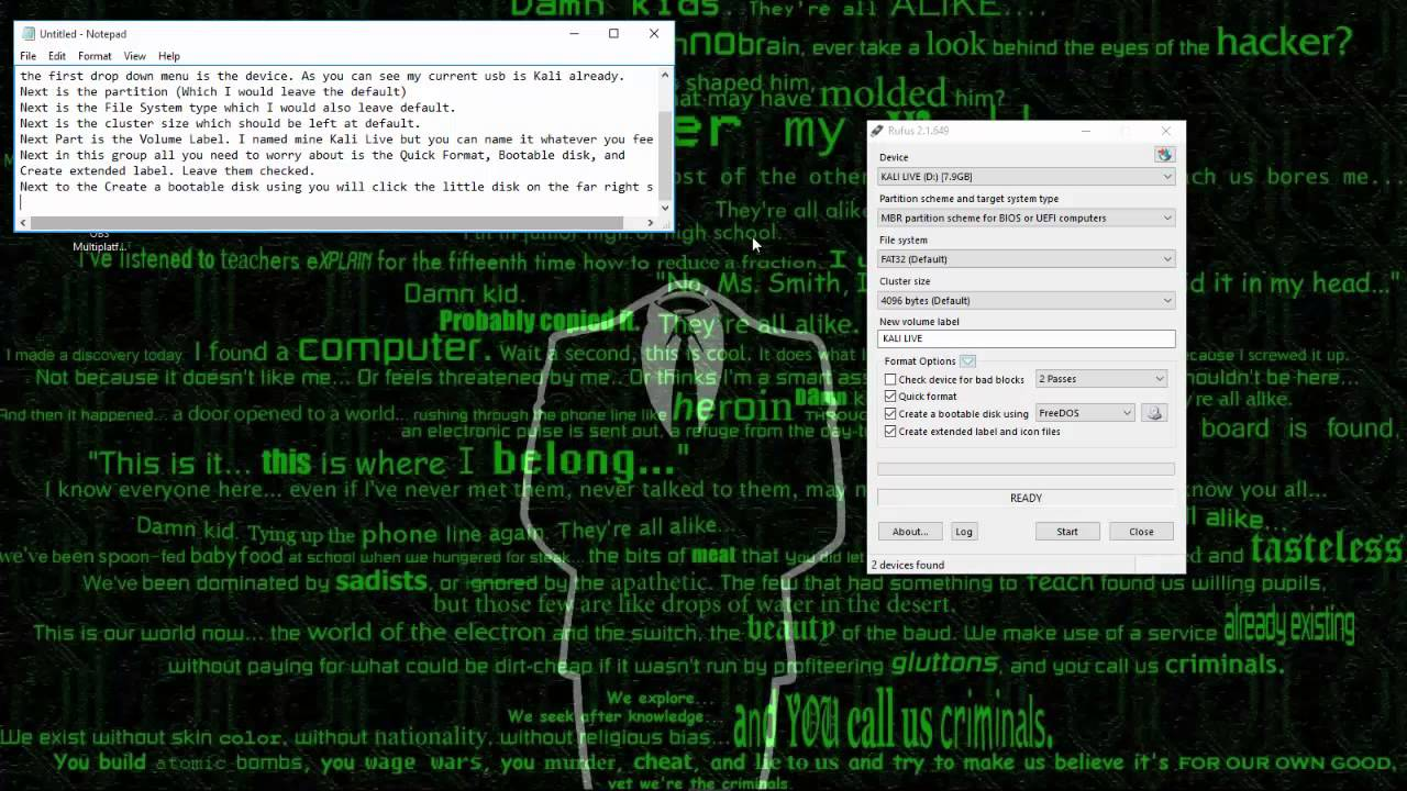Making a bootable Kali Linux USB with Rufus