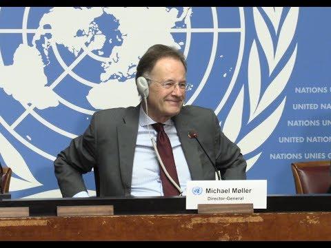 U.N. ON STRIKE: Michael Møller, Director-General of the United Nations Office at Geneva