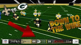 GAME CAME DOWN TO THE WIRE - PACKERS VS SAINTS - Legendary Football Gameplay ROBLOX