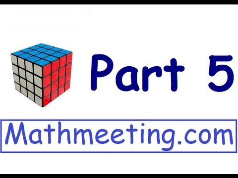 How to solve the 4x4 Rubik's cube - Part 5 - Corner Parity