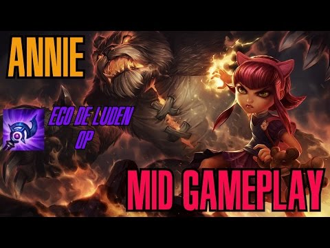 League of Legends - Annie Mid Gameplay - Eco de Luden OP [PT-BR]