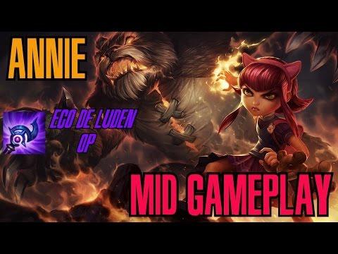 League of Legends - Annie Mid Gameplay - Eco de Luden OP [PT-BR]
