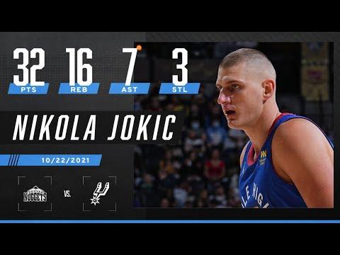 Nikola Jokic leads Denver with 32 PTS, 16 REB, 7 AST & 3 STL in win