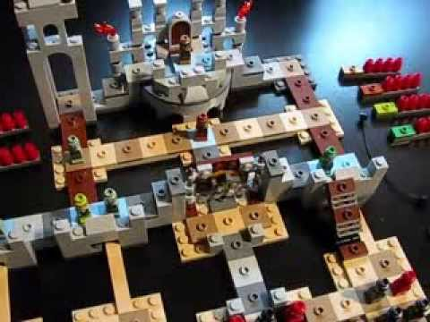 Lego Battle of Helms Deep Board Game Review LoTR - YouTube
