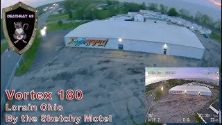 ImmersionRC Vortex 180   Flying by the Sketchy Motel in Lorain Ohio   Sloppy Acro
