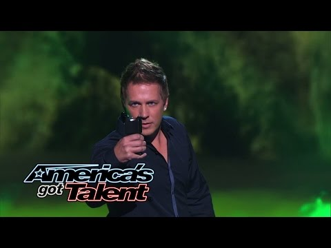 Mike Super: Magician Uses Taser Gun and Mel B in Act - America's Got Talent 2014