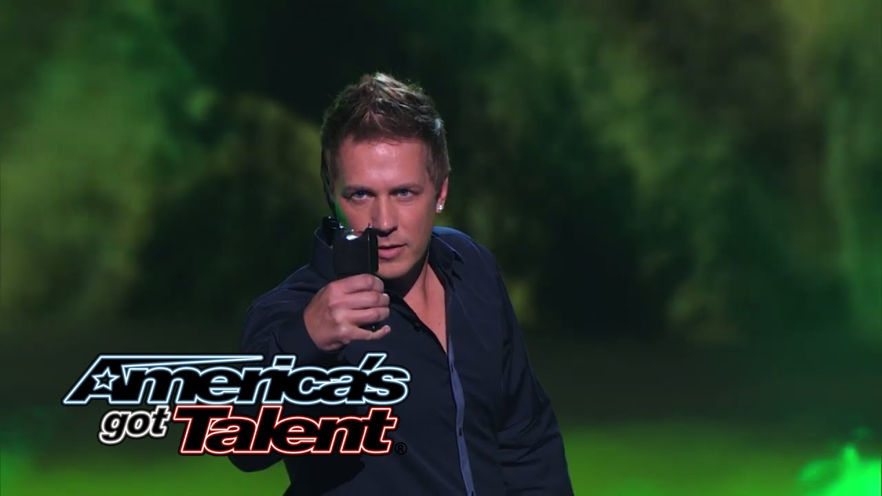 Mike Super Magician Uses Taser Gun And Mel B In Act Americas Got Talent 2014