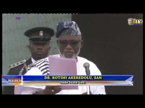 Oluwarotimi Akeredolu Sworn In As Governor Of Ondo State