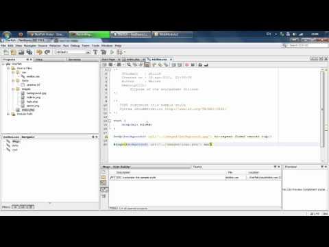 Ejemplo Maquetacion Web con xHTML y CSS en NetBeans