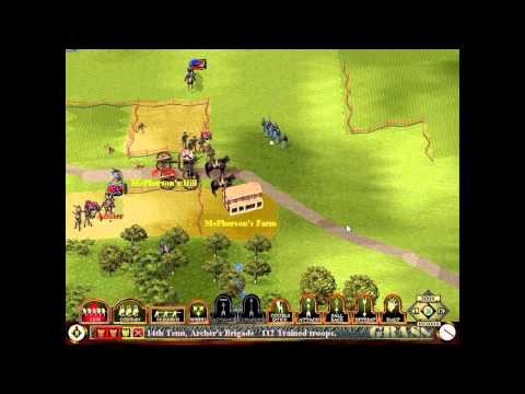 Let's Play Sid Meier's Gettysburg! - CSA I - McPherson's Hill: First Blood