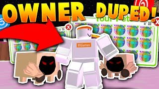 OWNER - DUPED RAREST RAINBOW DOMINUS ENORMI PETS PER NOOBS!!? - Roblox Pet Simulator (Troll)