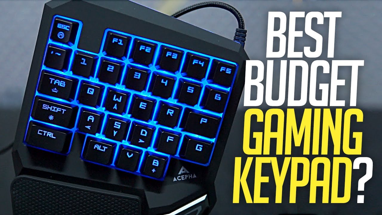 Best BUDGET Gaming Keypad?? ACEPHA T9 Pro Gaming Keypad Review