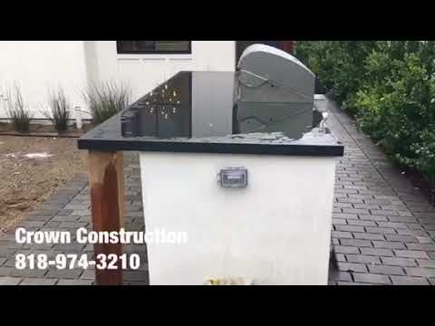 Van Nuys BBQ Grill Installation by Crown Construction 818-974-3210