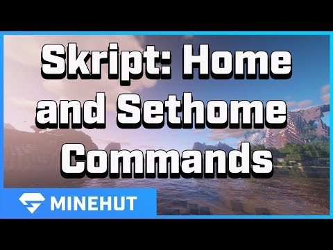 How To Create Home And Sethome Commands With Skript | Minehut 101