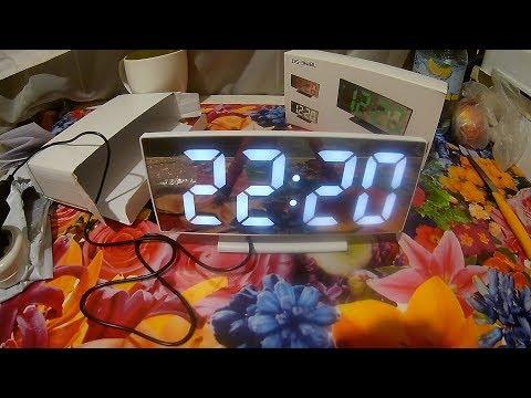 Красивые LED Часы/Будильник за 10$