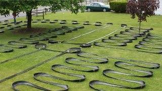 World's Longest Hot Wheels Sizzlers Fat track - car on track