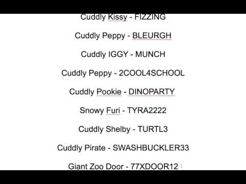 Moshi Monster Codes 2013
