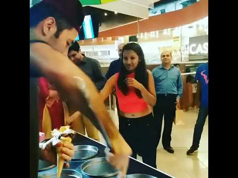 Turkish ice cream in dlf Mall of india food court noida🍦🍦🍦🍦🇹🇷🇹🇷🇹🇷