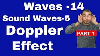 Waves14 : Sound Waves 05 - Doppler effect II Apparent Frequency -Derivation and Numericals JEE /NEET