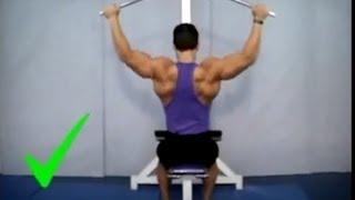 Treinando as costas corretamente